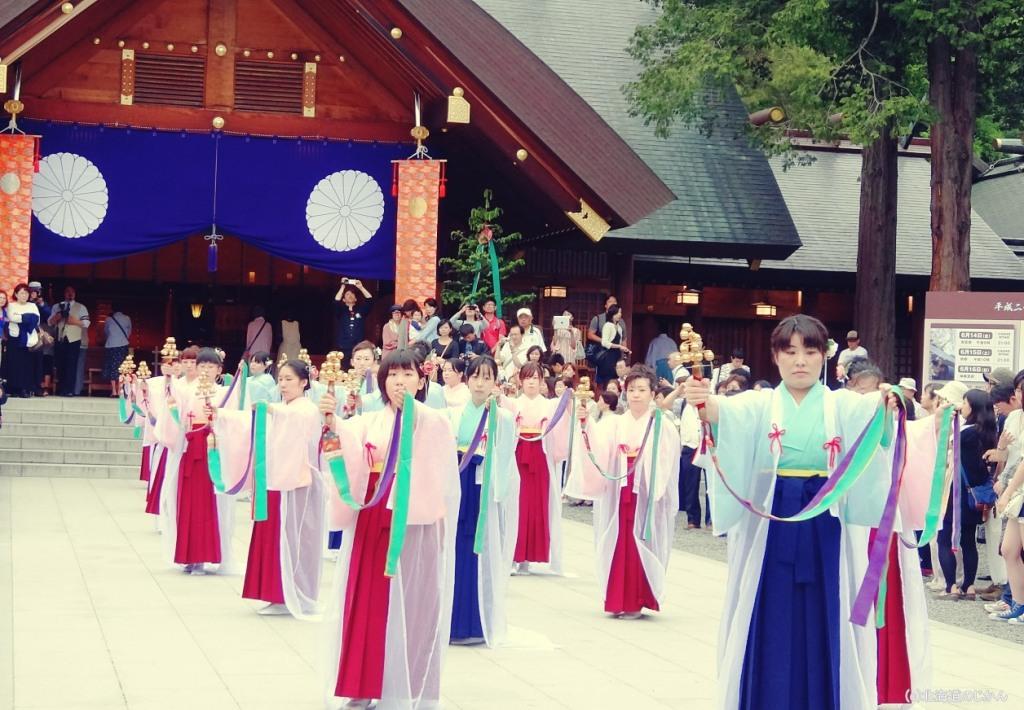 北海道神宮例祭「浦安の舞」