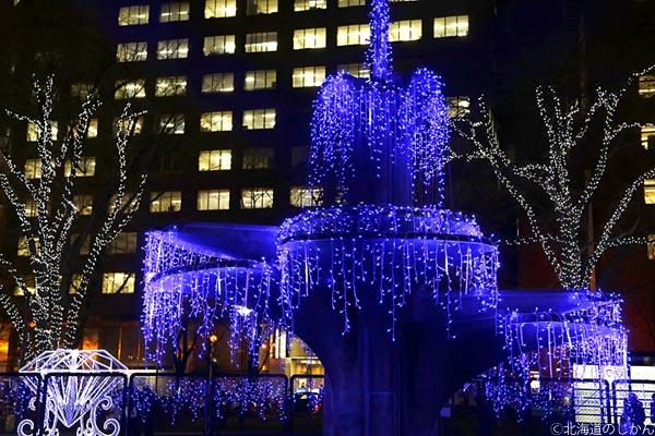 大通公園4丁目の「Spark Fountain」