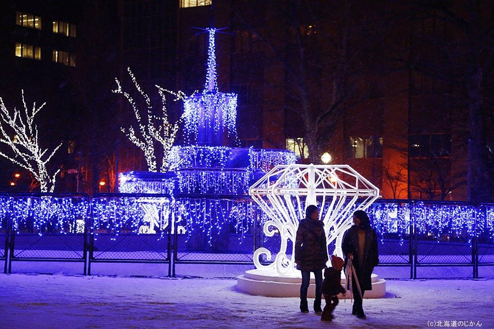 大通公園4丁目会場「Spark Fountain」