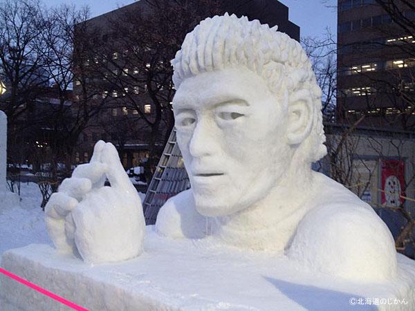 さっぽろ雪まつり2016-市民雪像五郎丸2