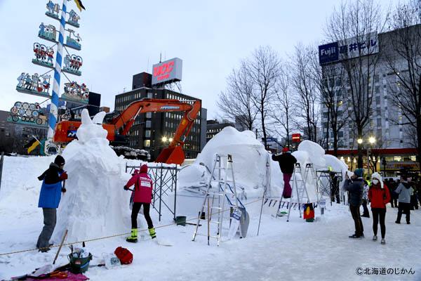 さっぽろ雪まつり2016-国際雪像2